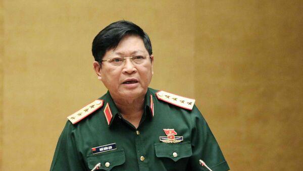 Bộ trưởng Bộ Quốc phòng Ngô Xuân Lịch, thừa ủy quyền của Thủ tướng Chính phủ trình bày Tờ trình về dự án Luật Lực lượng dự bị động viên.  - Sputnik Việt Nam