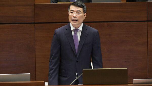 Thống đốc Ngân hàng Nhà nước (NHNN) Lê Minh Hưng trả lời chất vấn của Đại biểu Quốc hội ngày 16/11.  - Sputnik Việt Nam