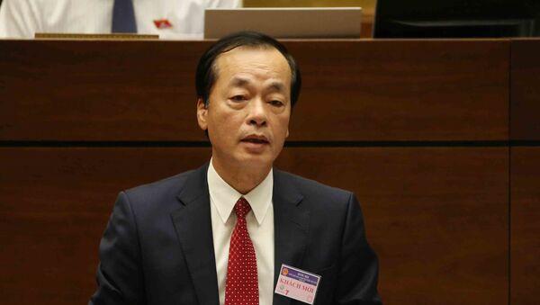 Bộ trưởng Bộ Xây dựng Phạm Hồng Hà trả lời chất vấn của đại biểu Quốc hội. - Sputnik Việt Nam