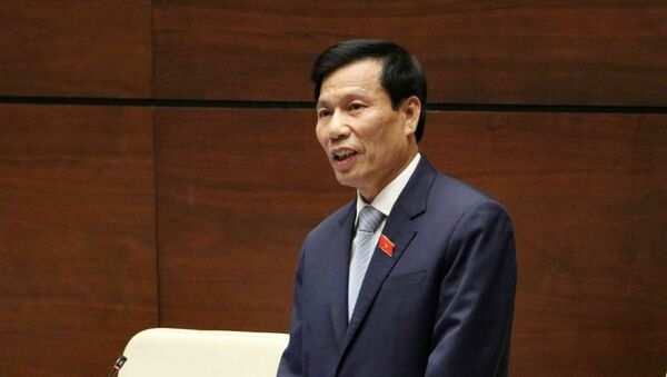 Bộ trưởng Bộ Văn hóa, Thể thao và Du lịch Nguyễn Ngọc Thiện trả lời chất vấn của đại biểu Quốc hội.  - Sputnik Việt Nam