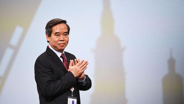 Người đứng đầu bộ phận kinh tế của Ban chấp hành trung ương đảng cộng sản Việt Nam, Nguyễn Văn Bình tại Diễn đàn Kinh tế Quốc tế St. Petersburg (SPIEF)  - Sputnik Việt Nam