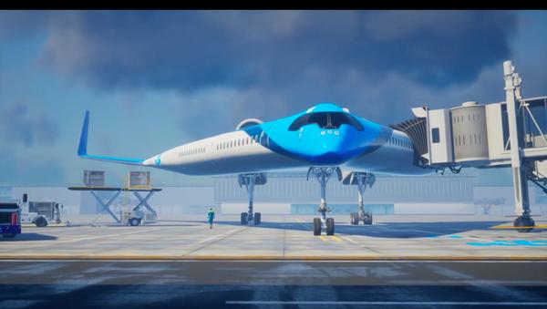 Giới thiệu khái niệm máy bay hình chữ V với cabin hành khách ở phần cánh  - Sputnik Việt Nam