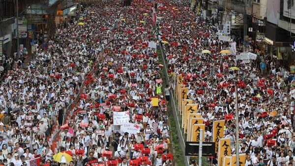 Hồng Kông: hơn 1 triệu người biểu tình phản đối dự luật dẫn độ - Sputnik Việt Nam