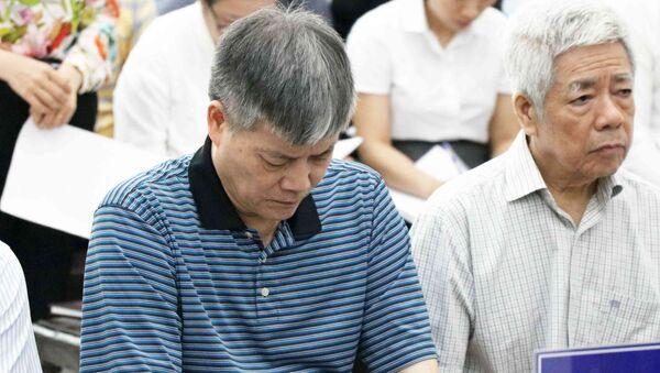 Bị cáo Nguyễn Ngọc Sự, sinh năm 1957, nguyên Chủ tịch Hội đồng thành viên Vinashin tại phiên tòa - Sputnik Việt Nam