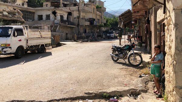 Đường phố trong khu Beit Jinn, Syria - Sputnik Việt Nam