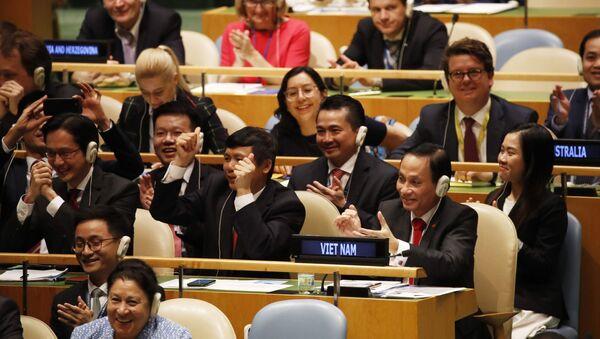 Việt Nam trúng cử ủy viên không thường trực HĐBA LHQ với số phiếu gần tuyệt đối - Sputnik Việt Nam