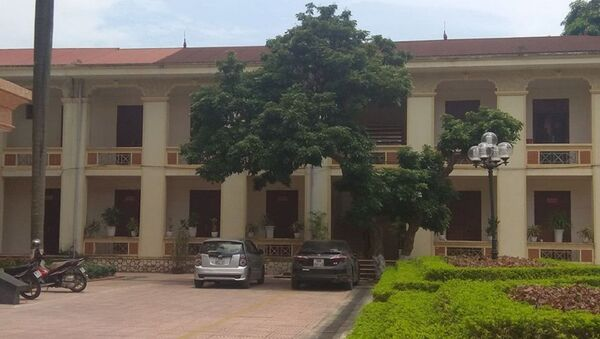 Đoàn Thanh tra Bộ Xây dựng có hành vi nhận hối lộ tại tầng 2 một dãy nhà của UBND huyện Vĩnh Tường. - Sputnik Việt Nam
