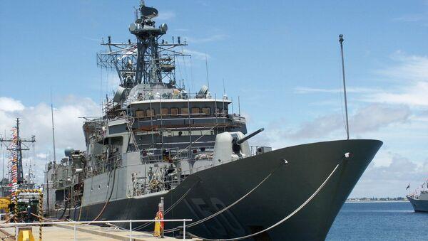 Фрегат австралийского флота типа Анзак. Архивное фото - Sputnik Việt Nam
