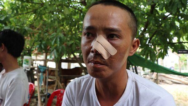 Anh Phạm Hồng Cấp nói rằng đã gọi công an 2 lần mà không thấy công an đâu - Sputnik Việt Nam