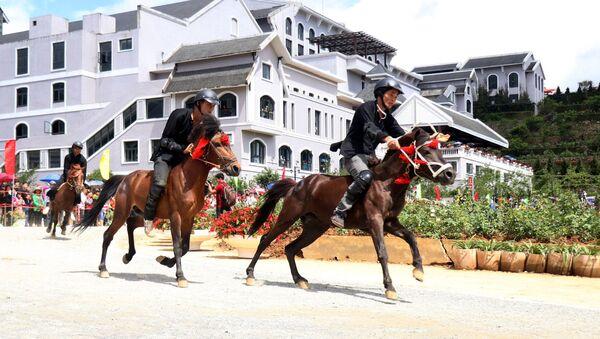 Lào Cai: Giải đua ngựa Fansipan Vó ngựa trên mây 2019  - Sputnik Việt Nam