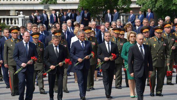 Tổng thống Putin đặt vòng hoa tại Mộ Chiến sĩ Vô danh - Sputnik Việt Nam