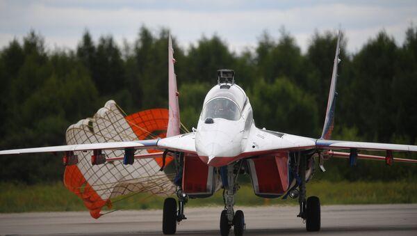 Máy bay chiến đấu MiG-29 tại Diễn đàn kỹ thuật quân sự quốc tế Army-2019 - Sputnik Việt Nam