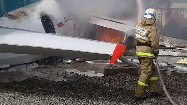 Máy bay Antonov An-24 hạ cánh khẩn cấp ở Nga - Sputnik Việt Nam