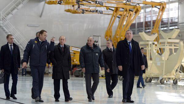 Tổng thống Nga trong chuyến thanh tra công trình sân bay vũ trụ Vostochnyi - Sputnik Việt Nam