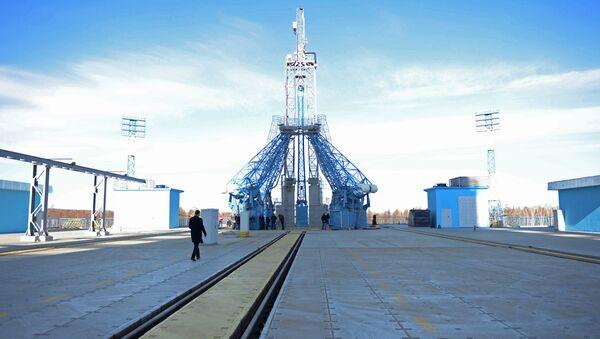 Bệ phóng ở sân bay vũ trụ Vostochnyi, tỉnh Amursky. - Sputnik Việt Nam
