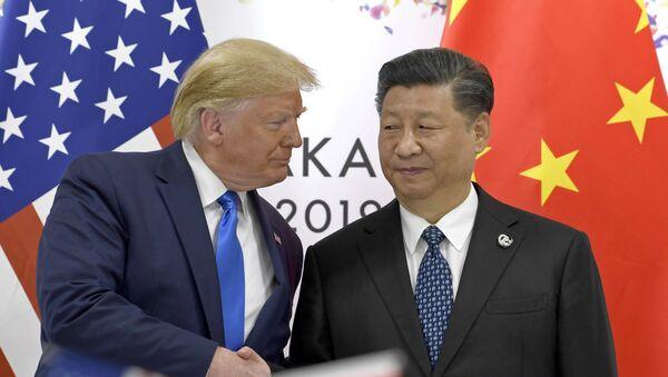 Donald Trump và Tập Cận Bình tại hội nghị thượng đỉnh G20 ở Osaka - Sputnik Việt Nam