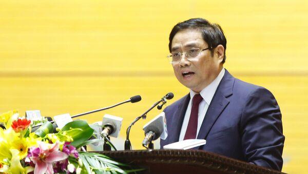 Ông Phạm Minh Chính, Trưởng ban Tổ chức Trung ương, phát biểu tại hội nghị.  - Sputnik Việt Nam