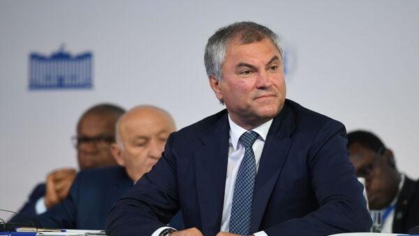 """Ông Vyacheslav Volodin, Chủ tịch Duma Quốc gia (Hạ viện) Nga tại Diễn đàn """"Sự phát triển chế độ đại nghị"""" lần thứ hai  - Sputnik Việt Nam"""