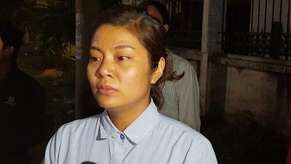 Chị Vũ Thị Thúy, vợ của bị cáo Lê Ngọc Hoàng - Sputnik Việt Nam
