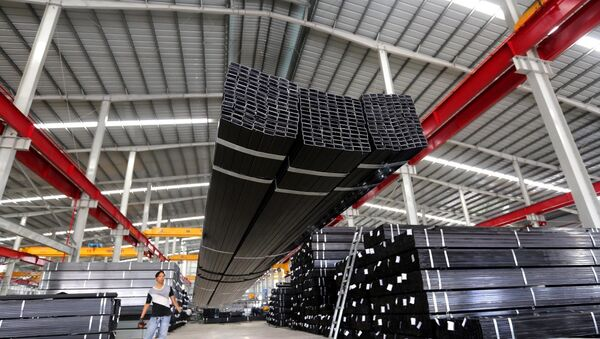 Nhà máy sản xuất thép Công ty cổ phần Thép Nguyễn Tín tại khu công nghiệp Thuận Đạo (Long An).  - Sputnik Việt Nam