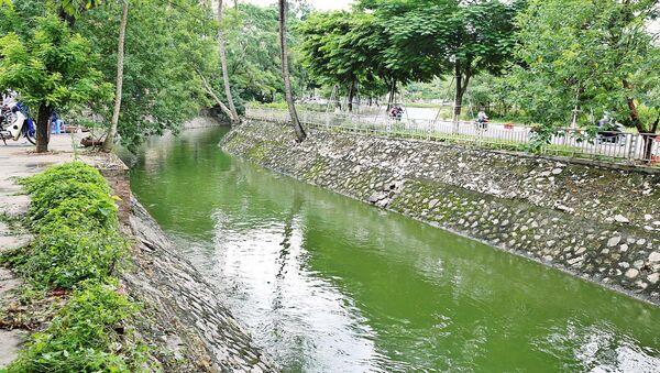 Nước sông Tô Lịch chuyển màu xanh - Sputnik Việt Nam