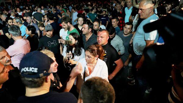 Biểu tình chống kênh truyền hình Rustavi 2 ở Tbilisi - Sputnik Việt Nam