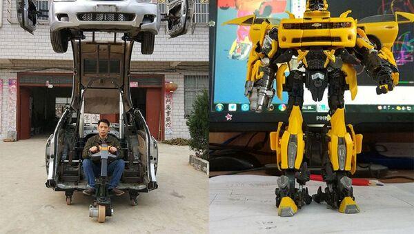 Một người đàn ông Trung Quốc chế tạo ra chiếc xe có khả năng biến hình như các siêu xe trong bộ phim Transformers. - Sputnik Việt Nam