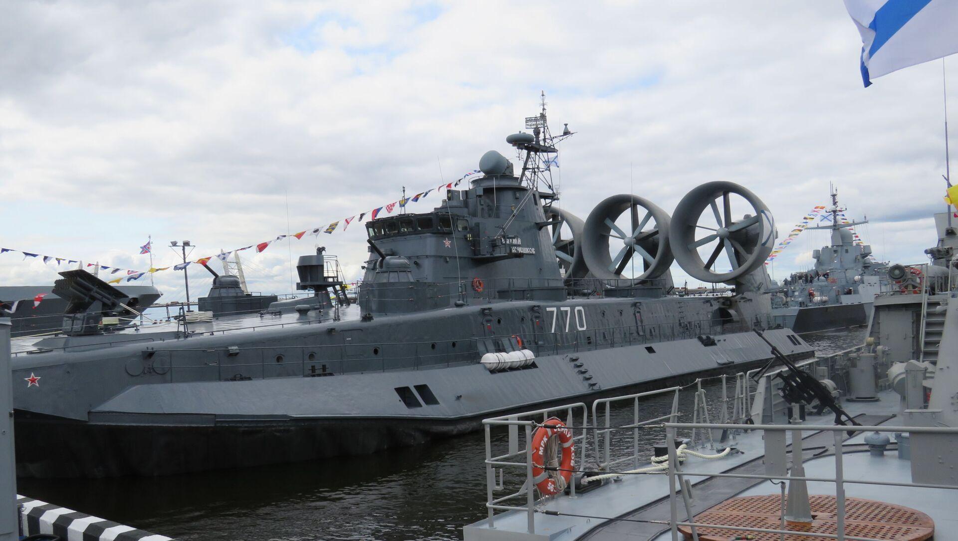 Tàu đổ bộ cỡ nhỏ trên đệm khí Evgeny Kocheshkov (đề án 12322) của Hải quân Nga - Sputnik Việt Nam, 1920, 29.09.2021