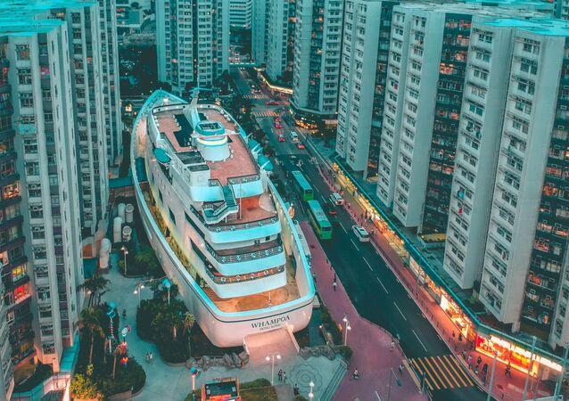 Đường phố Hồng Kông nhìn từ trên xuống