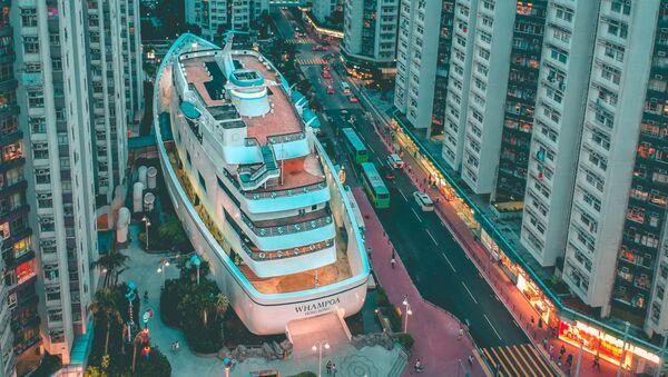 Đường phố Hồng Kông nhìn từ trên xuống - Sputnik Việt Nam