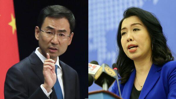Phát ngôn viên Cảnh Sảng của Bộ Ngoại giao Trung Quốc / Người Phát ngôn Bộ Ngoại giao VN Lê Thị Thu Hằng - Sputnik Việt Nam