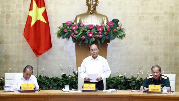 Thủ tướng Nguyễn Xuân Phúc phát biểu tại phiên họp.  - Sputnik Việt Nam