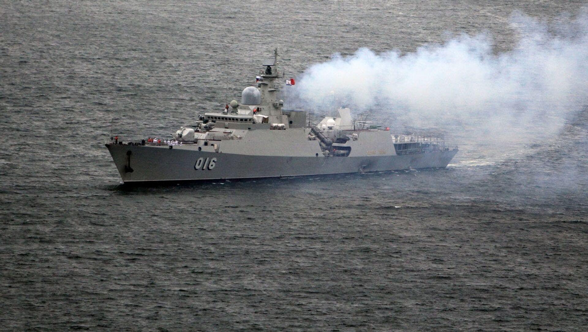 Tàu khu trục Quang Trung của Lực lượng Hải quân Việt Nam đã đến Vladivostok  - Sputnik Việt Nam, 1920, 07.04.2021