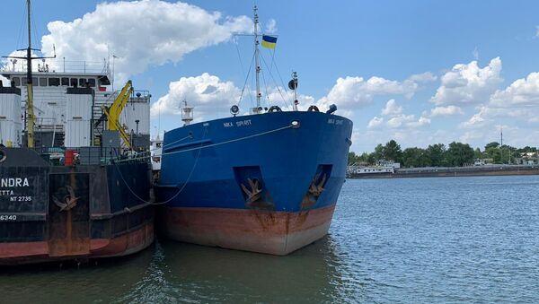 Tàu chở dầu Nika Spirit của Nga tại cảng Izmail ở tỉnh Odessa - Sputnik Việt Nam