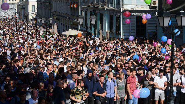Сuộc biểu tình trái phép ở Moskva - Sputnik Việt Nam