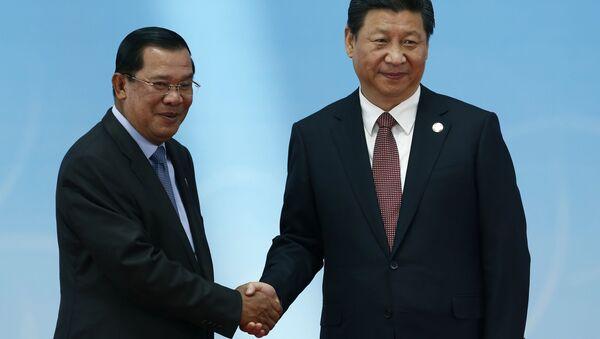 Hun Sen và Tập Cận Bình - Sputnik Việt Nam