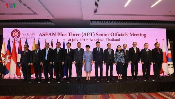 Cuộc họp trù bị của các quan chức cao cấp ASEAN+3 (Trung Quốc, Nhật Bản, Hàn Quốc). - Sputnik Việt Nam