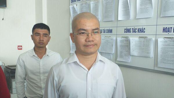 Ông Nguyễn Thái Luyện tại trụ sở Sở Thông tin Truyền thông tỉnh Bà Rịa-Vũng Tàu.  - Sputnik Việt Nam