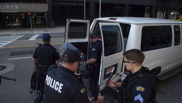 Cảnh sát sau vụ xả súng ở bang Ohio - Sputnik Việt Nam