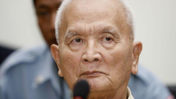 Nuon Chea, người được mệnh danh là cánh tay phải của thủ lĩnh Khmer Đỏ Pol Pot - Sputnik Việt Nam