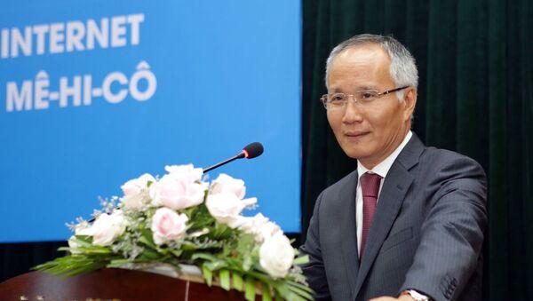Thứ trưởng Bộ Công Thương Trần Quốc Khánh phát biểu tại lễ công bố.  - Sputnik Việt Nam