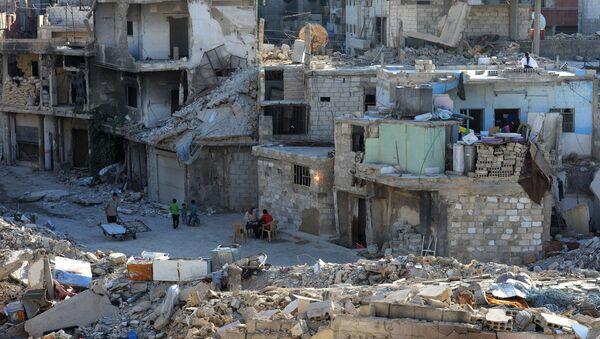 Tòa nhà bị phá hủy ở Damascus - Sputnik Việt Nam