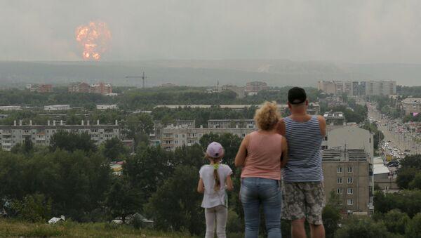 Vụ nổ tại thao trường quân sự ở Nga - Sputnik Việt Nam