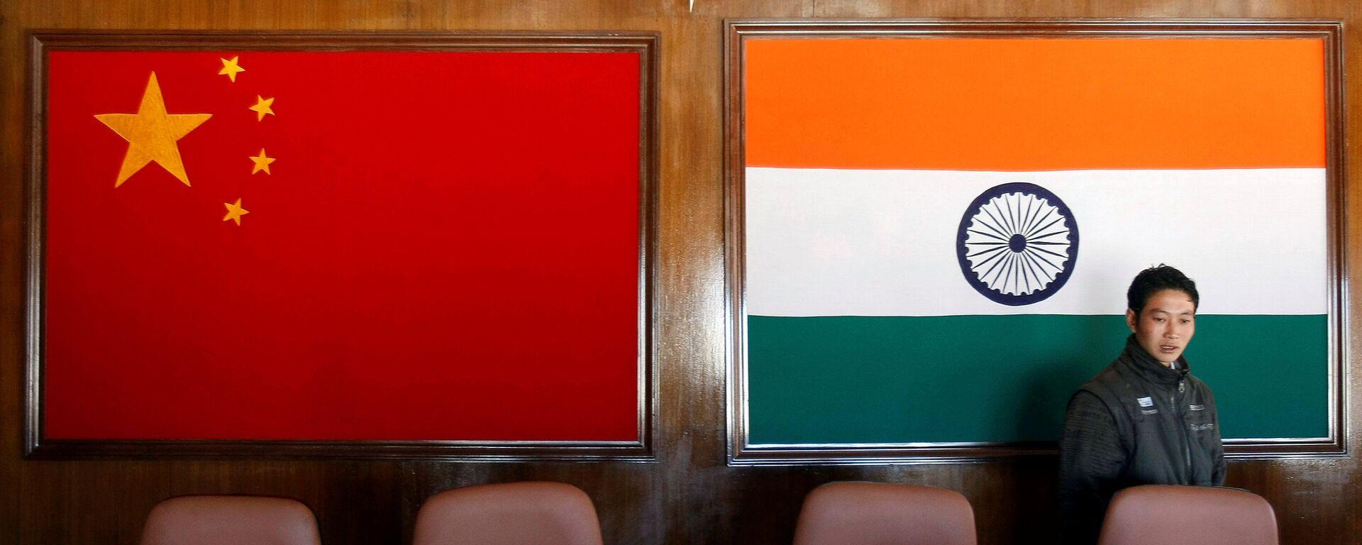 Lá cờ của Trung Quốc và Ấn Độ - Sputnik Việt Nam, 1920, 04.08.2021