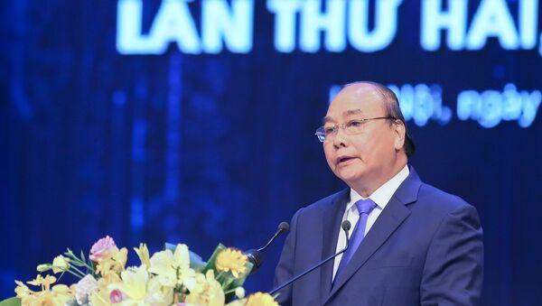 Thủ tướng Nguyễn Xuân Phúc phát biểu tại Lễ trao giải báo chí toàn quốc về phòng chống tham nhũng. - Sputnik Việt Nam