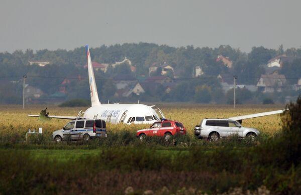 Máy bay A-321 chở hành khách hạ cánh cứng xuống ngoại ô Moskva - Sputnik Việt Nam