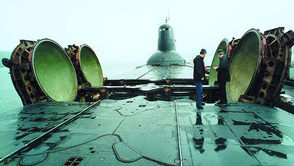 """Tàu tuần dương chiến lược tên lửa hạng nặng dự án 941 dưới tên mã """"Akula"""" ( Cá mập) - Sputnik Việt Nam"""