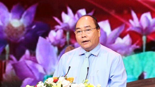 Thủ tướng Nguyễn Xuân Phúc phát biểu tại chương trình.  - Sputnik Việt Nam