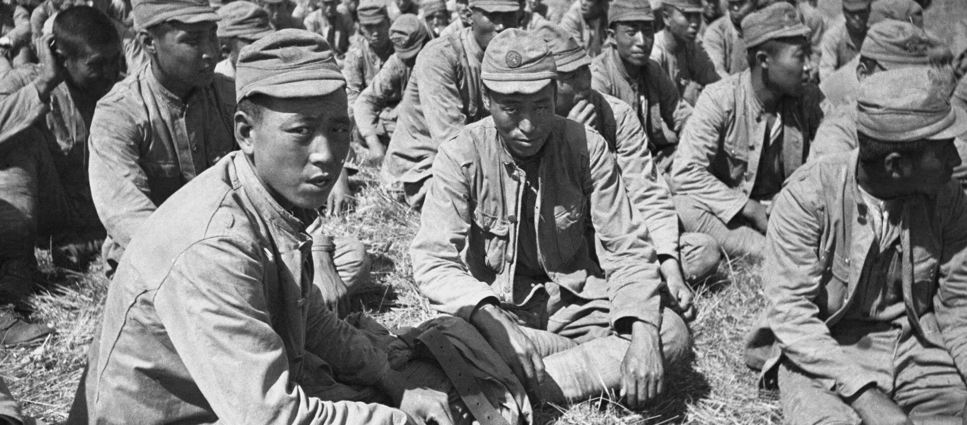 Lính Nhật bị bắt làm tù binh gần sông Khalkhin Gol. Năm 1939 - Sputnik Việt Nam, 1920, 25.08.2021