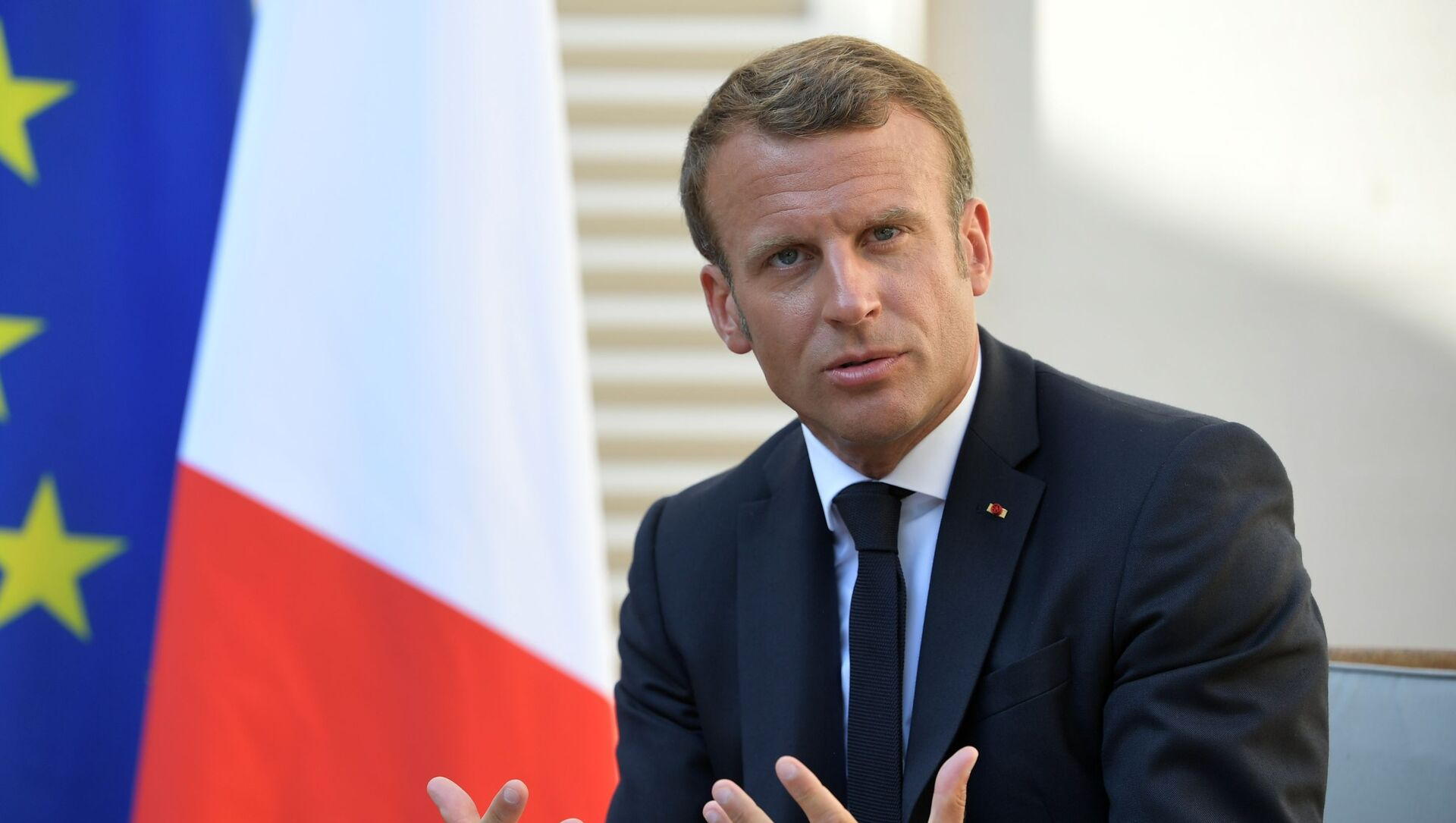 Tổng thống Pháp Emmanuel Macron - Sputnik Việt Nam, 1920, 28.09.2021